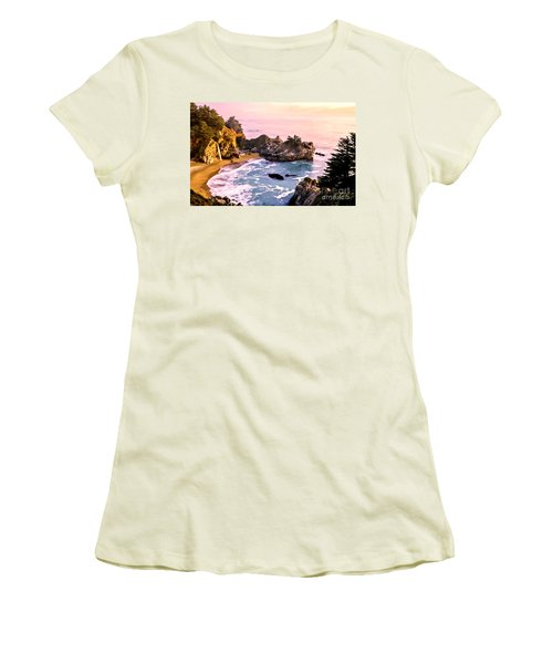 Mcway Falls Pacific Coast Women's T-Shirt (Athletic Fit)