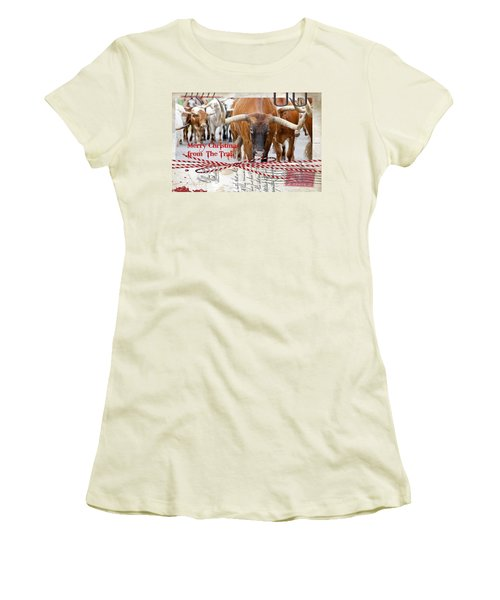 Merry Christmas From The Trail Women's T-Shirt (Athletic Fit)