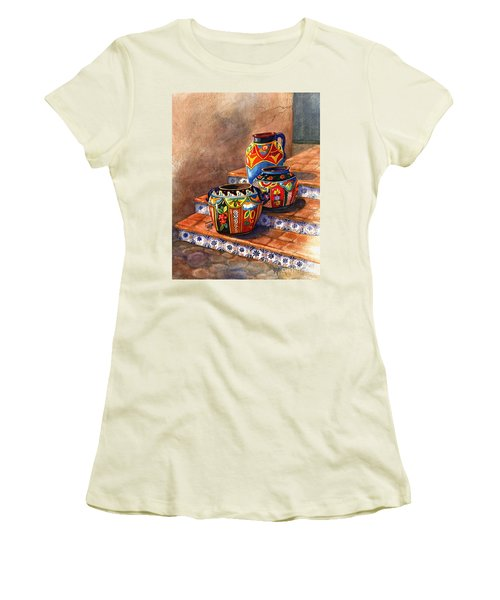 Mexican Pottery Still Life Women's T-Shirt (Athletic Fit)