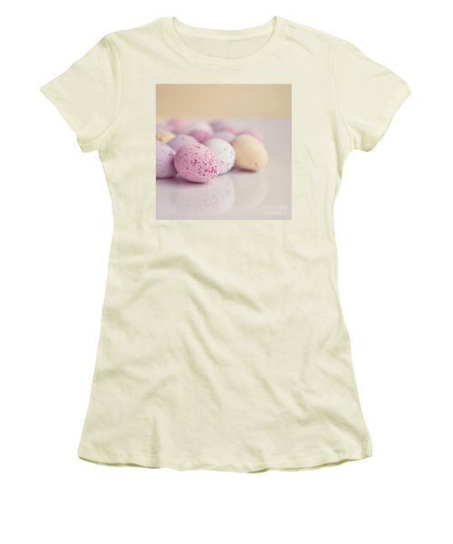 Mini Easter Eggs Women's T-Shirt (Junior Cut) by Lyn Randle