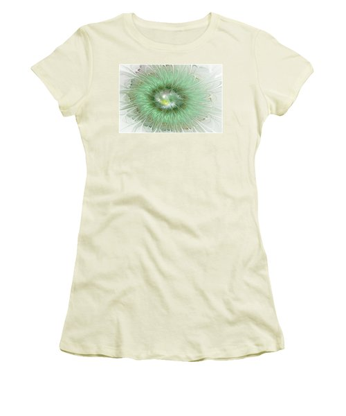 Women's T-Shirt (Junior Cut) featuring the digital art Mint Green by Svetlana Nikolova