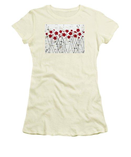 Mis Amores Women's T-Shirt (Junior Cut) by Carmen Guedez