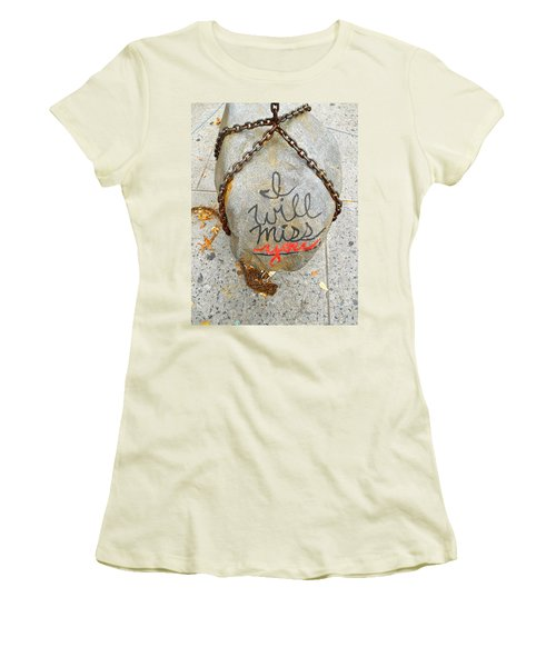 Women's T-Shirt (Junior Cut) featuring the photograph Missing You by Joan Reese