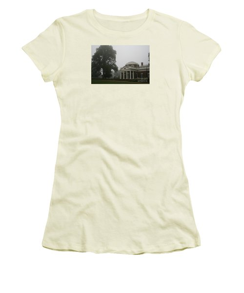 Misty Morning At Monticello Women's T-Shirt (Junior Cut) by Christiane Schulze Art And Photography