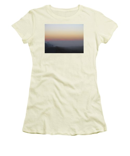 Misty Morning Road Women's T-Shirt (Athletic Fit)
