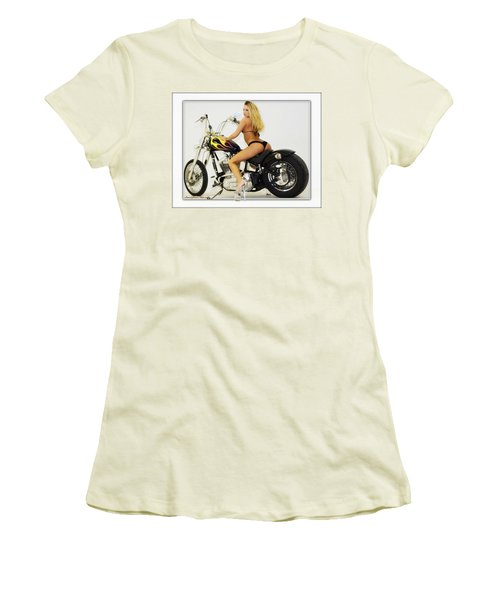 Models And Motorcycles_k Women's T-Shirt (Athletic Fit)