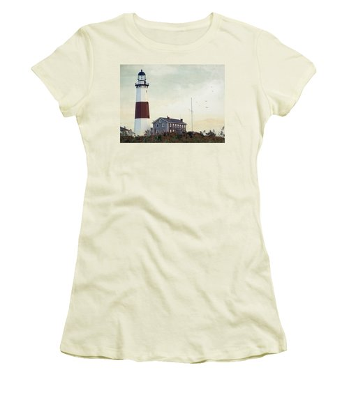 Montauk Dusk Women's T-Shirt (Junior Cut) by Keith Armstrong