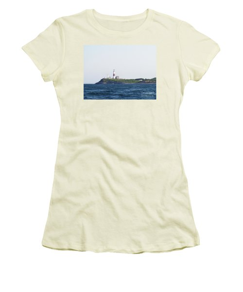 Montauk Lighthouse From The Atlantic Ocean Women's T-Shirt (Athletic Fit)