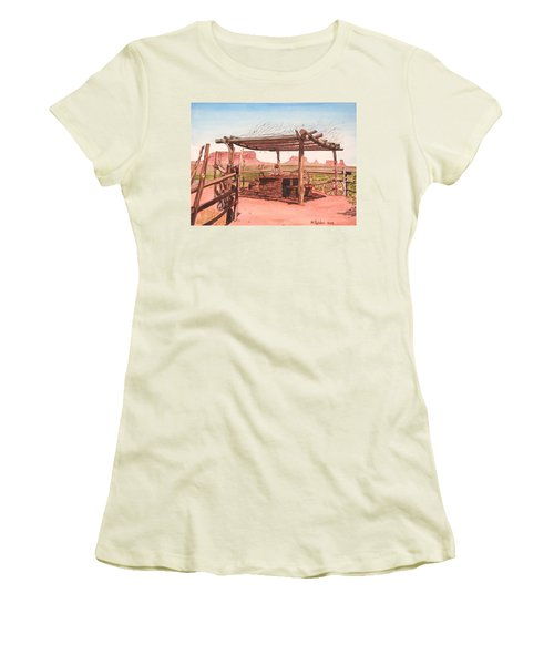 Monument Valley Overlook Women's T-Shirt (Junior Cut) by Mike Robles