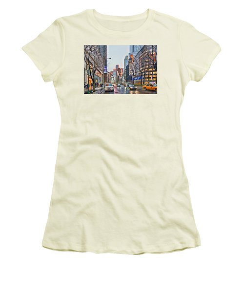 Moody Afternoon In New York City Women's T-Shirt (Athletic Fit)