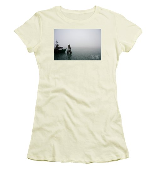 Women's T-Shirt (Junior Cut) featuring the photograph Moored by CML Brown