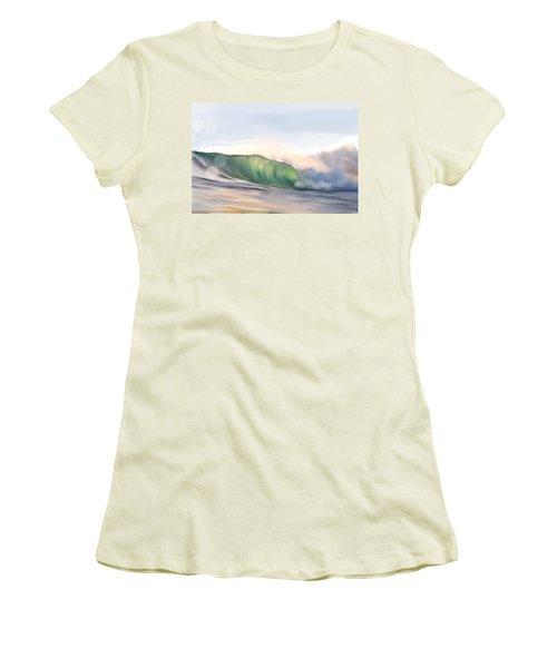 Women's T-Shirt (Junior Cut) featuring the painting Morning Break by Dawn Harrell