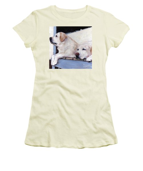 Morning Glory Women's T-Shirt (Junior Cut) by Molly Poole