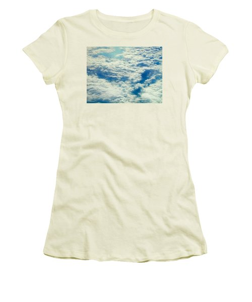 Women's T-Shirt (Junior Cut) featuring the photograph Mostly Cloudy by Mark Greenberg