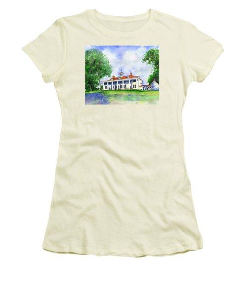 Mount Vernon Front Women's T-Shirt (Junior Cut)
