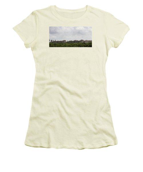 Mountain Villa Women's T-Shirt (Athletic Fit)