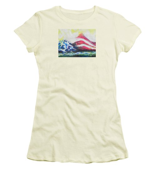 Mountains Of Freedom Two Women's T-Shirt (Athletic Fit)