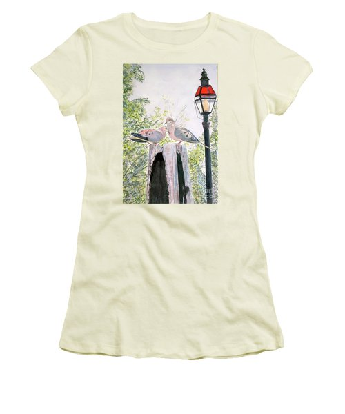Mourning Doves Women's T-Shirt (Junior Cut)