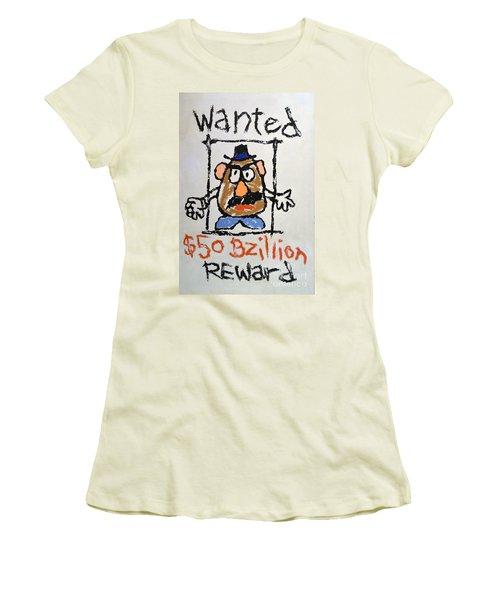 Women's T-Shirt (Junior Cut) featuring the photograph Mr. Potato Head Gone Bad by Robert Meanor