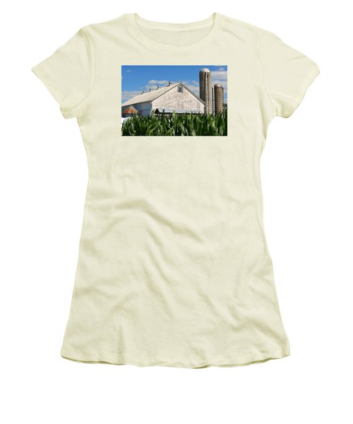 My Favorite Barn In Summer Women's T-Shirt (Athletic Fit)