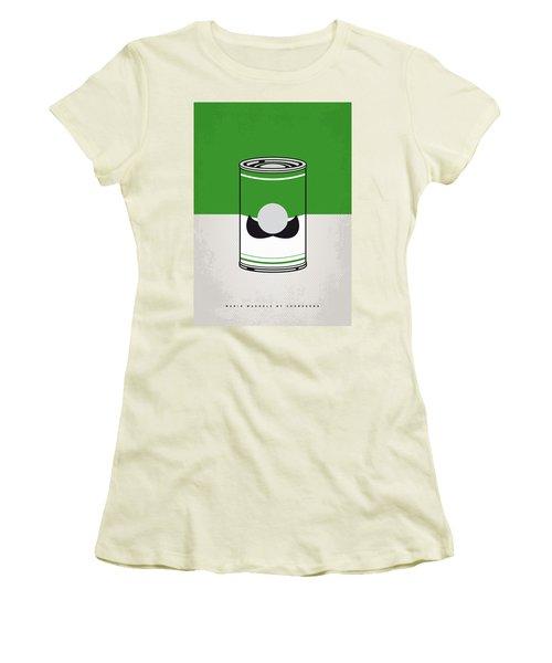 My Mario Warhols Minimal Can Poster-luigi Women's T-Shirt (Athletic Fit)