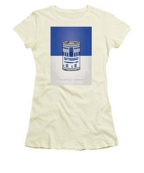 My Star Warhols R2d2 Minimal Can Poster Women's T-Shirt (Athletic Fit)