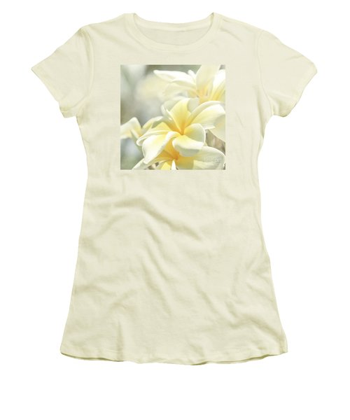 Women's T-Shirt (Athletic Fit) featuring the photograph Na Lei Pua Melia Aloha E Ko Lele by Sharon Mau