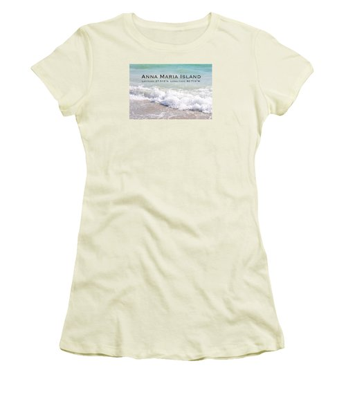 Women's T-Shirt (Junior Cut) featuring the photograph Nautical Escape To Anna Maria Island by Margie Amberge