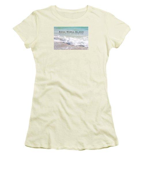 Nautical Escape To Anna Maria Island Women's T-Shirt (Junior Cut) by Margie Amberge