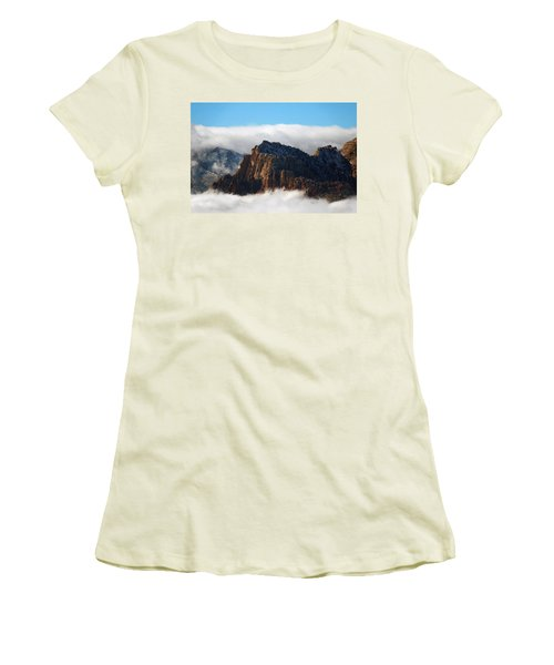 Nestled In The Clouds Women's T-Shirt (Athletic Fit)
