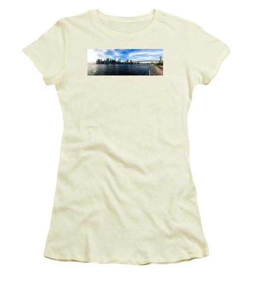 New York Skyline - Color Women's T-Shirt (Junior Cut) by Nicklas Gustafsson