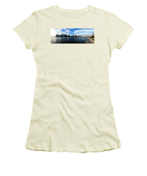 New York Skyline - Color Women's T-Shirt (Athletic Fit)
