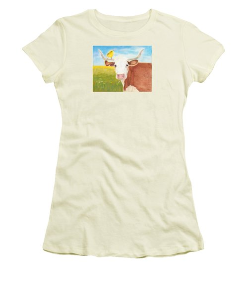Women's T-Shirt (Junior Cut) featuring the painting No Tree Necessary by Arlene Crafton