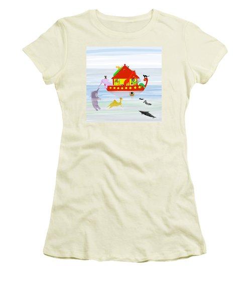 Noah's Ark Women's T-Shirt (Junior Cut) by Barbara Moignard