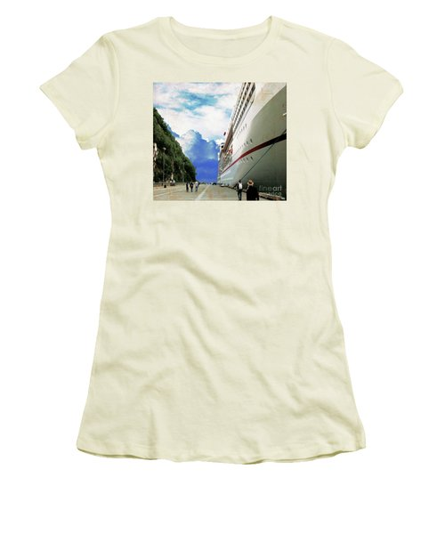 North To Alaska Women's T-Shirt (Junior Cut) by Janette Boyd