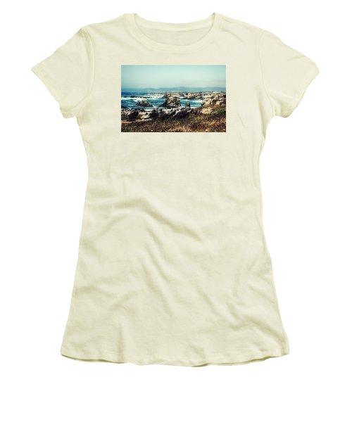Ocean Breeze Women's T-Shirt (Junior Cut) by Melanie Lankford Photography