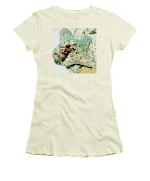 Women's T-Shirt (Junior Cut) featuring the photograph Octopus On The Reef by Amy McDaniel