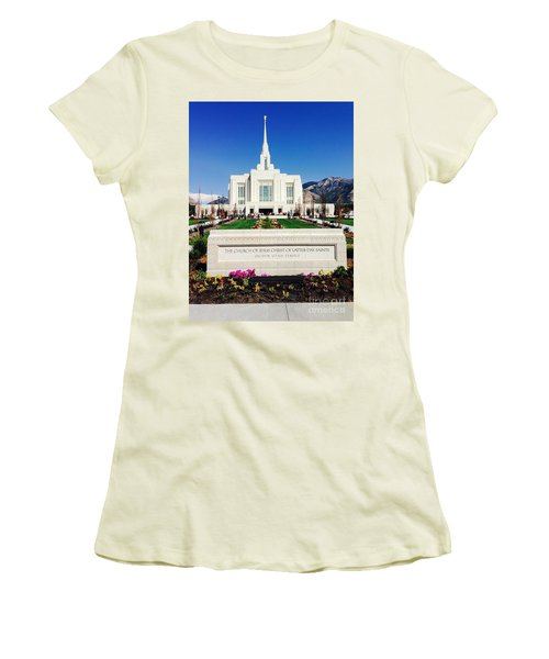 Ogden Temple 1 Women's T-Shirt (Junior Cut) by Richard W Linford