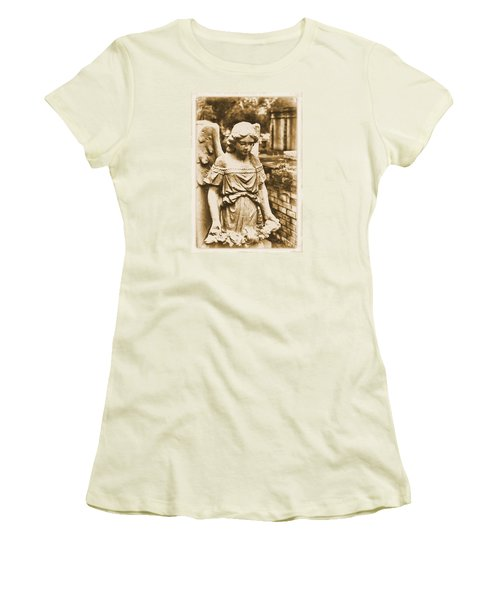 Blessed Angel   Women's T-Shirt (Junior Cut) by Nadalyn Larsen