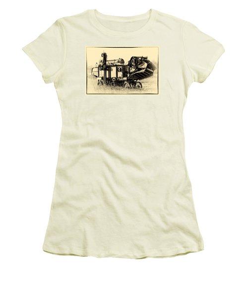 Old Case Thresher Women's T-Shirt (Junior Cut) by Bill Kesler