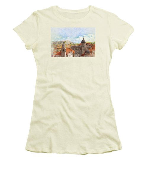 Old City Of Dubrovnik Women's T-Shirt (Athletic Fit)