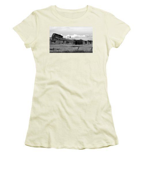 Old Fort Women's T-Shirt (Junior Cut) by Steven Reed