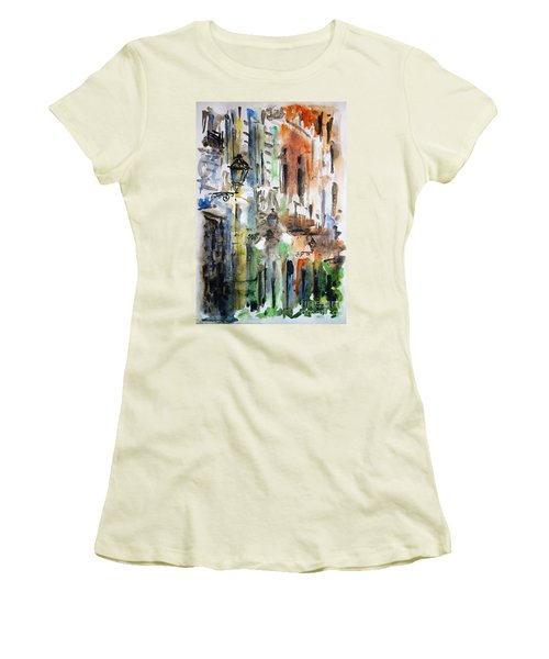 Old Houses Of San Juan Women's T-Shirt (Junior Cut) by Zaira Dzhaubaeva