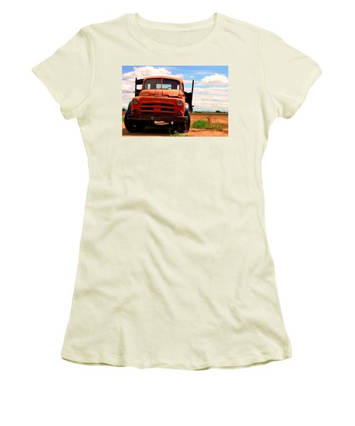 Women's T-Shirt (Junior Cut) featuring the photograph Old Truck by Matt Harang
