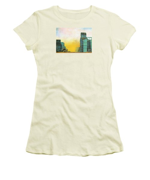 Old Used Grain Elevator Women's T-Shirt (Junior Cut) by Janette Boyd