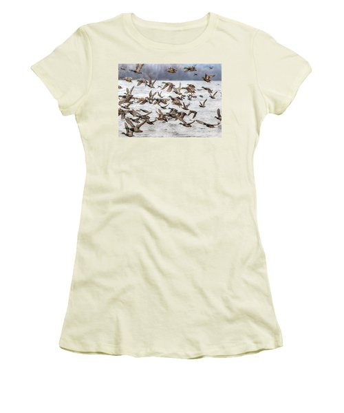 Women's T-Shirt (Junior Cut) featuring the photograph One Direction One by Robert Pearson