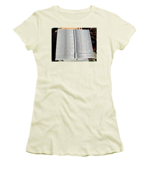 One Solitary Life Women's T-Shirt (Athletic Fit)