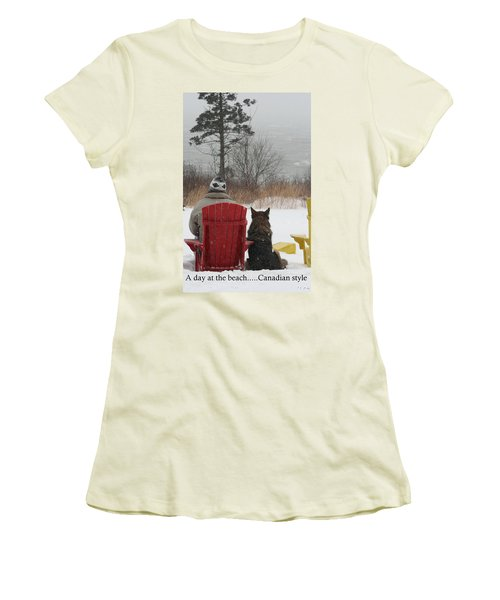 Only In Canada Women's T-Shirt (Athletic Fit)