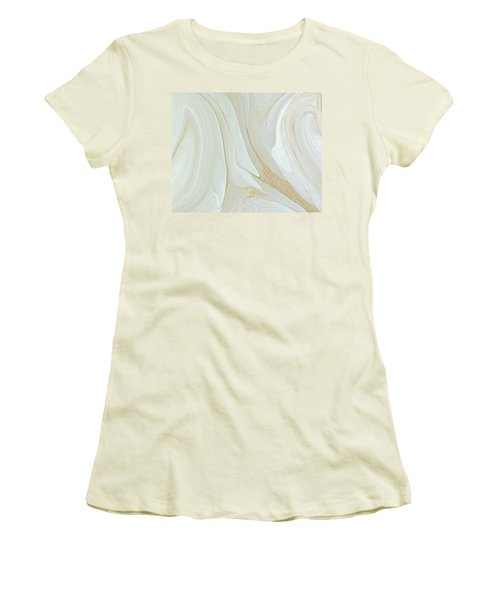 Orchids In Snow  C2014 Women's T-Shirt (Athletic Fit)