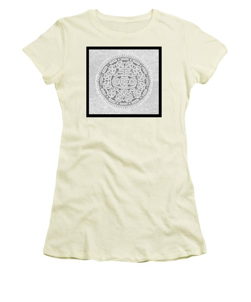 Oreo In Grey Women's T-Shirt (Athletic Fit)